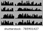 the silhouette of the city in a ... | Shutterstock .eps vector #785901427