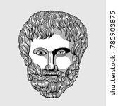 classical sculpture. vector... | Shutterstock .eps vector #785903875