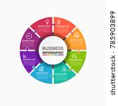 business infographic elements | Shutterstock .eps vector #785903899