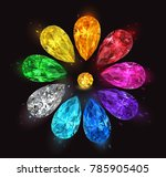 set of multicolored precious... | Shutterstock .eps vector #785905405