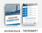 design of a vector flyer with... | Shutterstock .eps vector #785908897