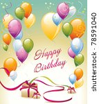 card for congratulations | Shutterstock .eps vector #78591040