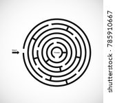 abstract maze labyrinth icon.... | Shutterstock .eps vector #785910667