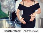 beautiful young couple... | Shutterstock . vector #785910961