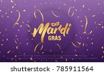 mardi gras. background with... | Shutterstock .eps vector #785911564