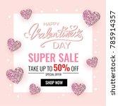 valentines day sale background | Shutterstock .eps vector #785914357
