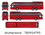 red bus vector mock up for... | Shutterstock .eps vector #785914795