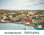 Small photo of St. John's cityscape with a port, capital city of Newfoundland and Labrador, Canada