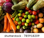 healthy and collourful... | Shutterstock . vector #785918209