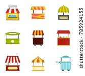 street food truck icon set.... | Shutterstock . vector #785924155