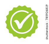 green tick. green check mark.... | Shutterstock .eps vector #785926819