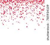 heart confetti. valentines ... | Shutterstock .eps vector #785934109