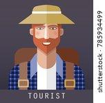 icon of tourist | Shutterstock . vector #785934499