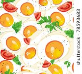 vector seamless pattern with... | Shutterstock .eps vector #78593683