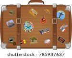 Traveler Suitcase With Stickers