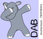 dab dabbing pose rhino kid