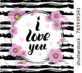 i love you template for banner... | Shutterstock .eps vector #785939341