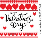 happy valentines day template...   Shutterstock .eps vector #785939344