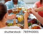 celebration  eating and... | Shutterstock . vector #785943001