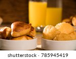 mixed brazilian snack on the... | Shutterstock . vector #785945419