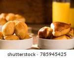 mixed brazilian snack on the... | Shutterstock . vector #785945425
