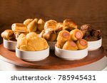 mixed brazilian snack on the... | Shutterstock . vector #785945431