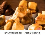 mixed brazilian snack on the... | Shutterstock . vector #785945545
