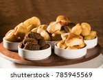 mixed brazilian snack on the... | Shutterstock . vector #785945569