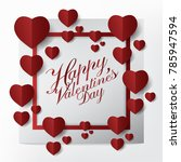 modern happy valentines day... | Shutterstock .eps vector #785947594