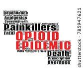 opioid crisis word cloud... | Shutterstock .eps vector #785947621