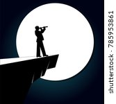 A Silhouette Businessman With A ...