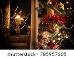 three burning christmas... | Shutterstock . vector #785957305