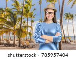 young casual style woman... | Shutterstock . vector #785957404