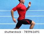 athlete runner running on... | Shutterstock . vector #785961691