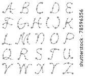 thorn alphabet   raster | Shutterstock . vector #78596356