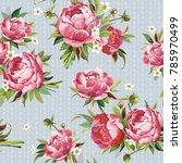beautiful pattern in vintage... | Shutterstock .eps vector #785970499