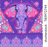 pattern with mandala and... | Shutterstock .eps vector #785972749