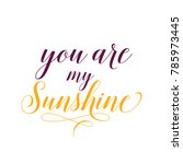 you are my sunshine lettering | Shutterstock .eps vector #785973445