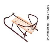 detskie sled for skating on... | Shutterstock . vector #785974291
