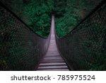 Suspension Bridge Into Dark...