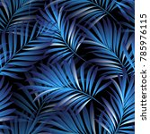 tropical palm leaves  jungle... | Shutterstock .eps vector #785976115