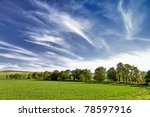 several trees on the field and... | Shutterstock . vector #78597916
