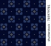 indigo floral pattern. small... | Shutterstock .eps vector #785979781