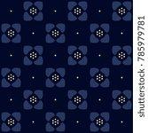 indigo floral pattern. small... | Shutterstock .eps vector #785979781