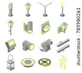 icons of outdoor lights in... | Shutterstock .eps vector #785980261