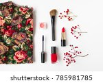 woman accessories collage with... | Shutterstock . vector #785981785
