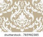 vector damask seamless pattern... | Shutterstock .eps vector #785982385