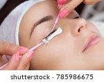 eyelash removal procedure close ...   Shutterstock . vector #785986675