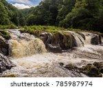 amazing cenarth falls after... | Shutterstock . vector #785987974