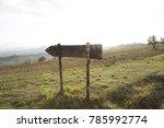 arrow signal sky sun meadow | Shutterstock . vector #785992774